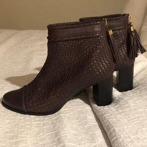 Guilhermina Woven Leather Boots 8